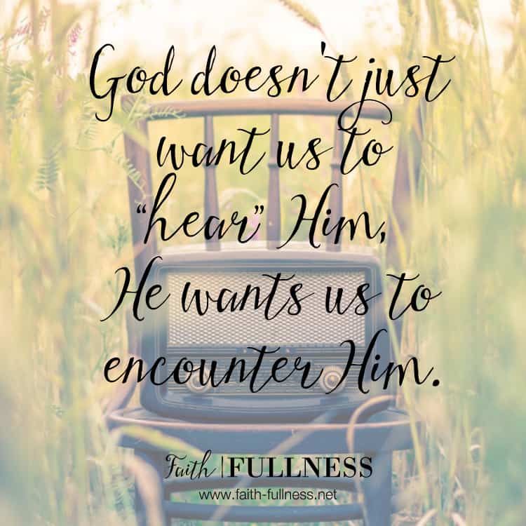 "If we truly want to encounter the Living God, we can't put expectations on Him. Sometimes God's voice will sound like thunder, sometimes it will sound like a gentle voice, sometimes it might even look like a sunset. God is speaking all the time and He truly wants an encounter with you, we just need to tune in, will you be ""listening""? 